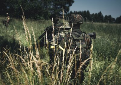 Joueurs airsoft